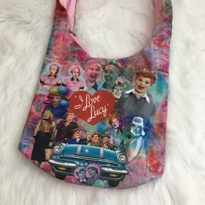 🆕 I Love Lucy Crossbody Canvas Tote Bag